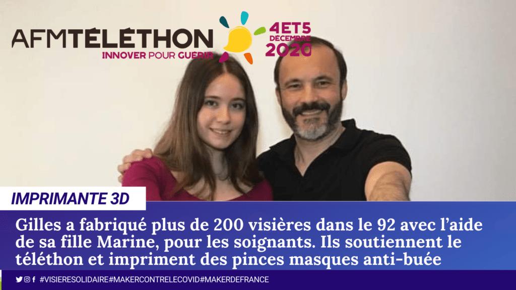Gilles et Marine ont remis 400 pince-masques dans le 92