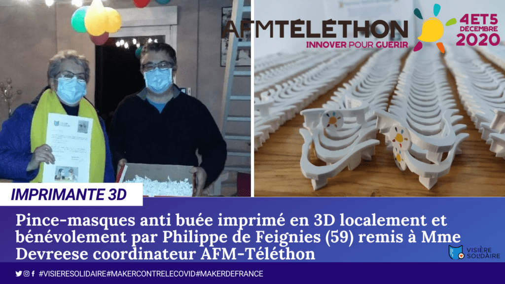 Philippe imprime l'objet 3D pince masque