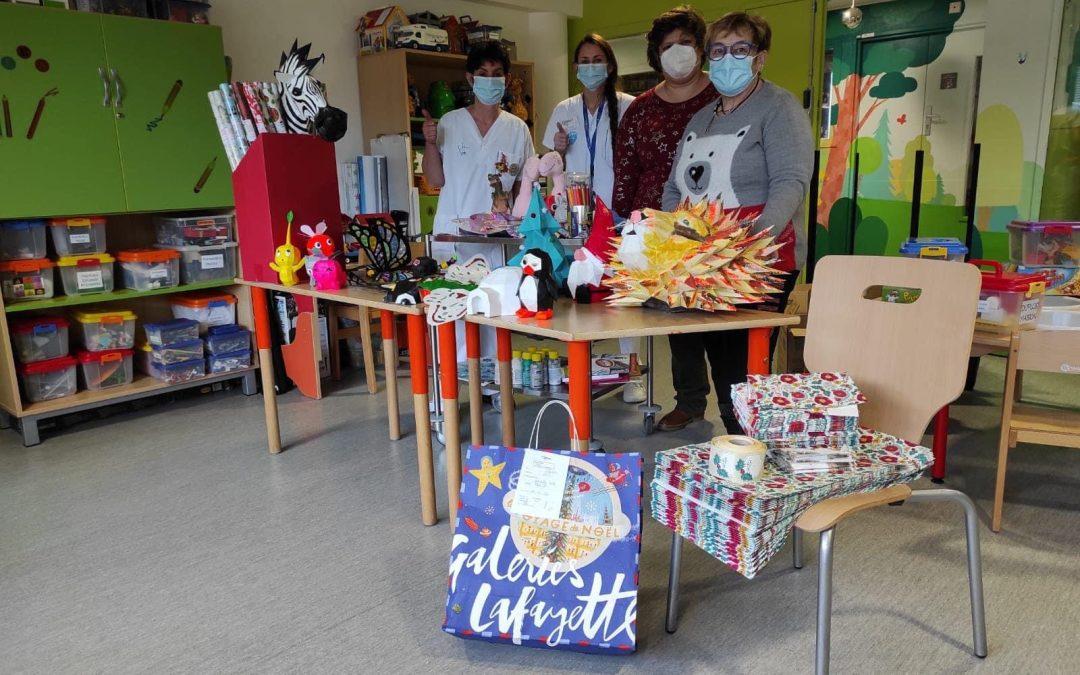 Donation de Noël pour les enfants hospitalisés